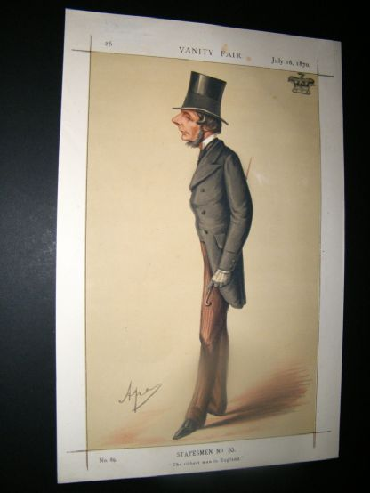 Vanity Fair Print 1870 Marquis of Westminster | Albion Prints